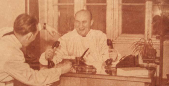 """dr Maksymilian Buchalik oskarżał piłkarzy """"Odry"""" Opole o nadużywanie alkoholu (1954/55 r.)"""
