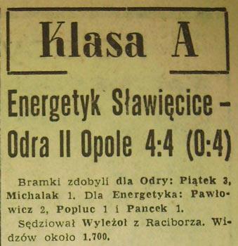 """W Klasie A na mecze z udziałem """"Odry"""" przychodziło niemal 2 tys. widzów!"""