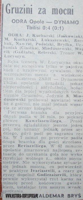 """Gruzini za mocni! Zwycięstwo DInamo Tbilisi nad """"Odrą"""" aż 4:0!"""