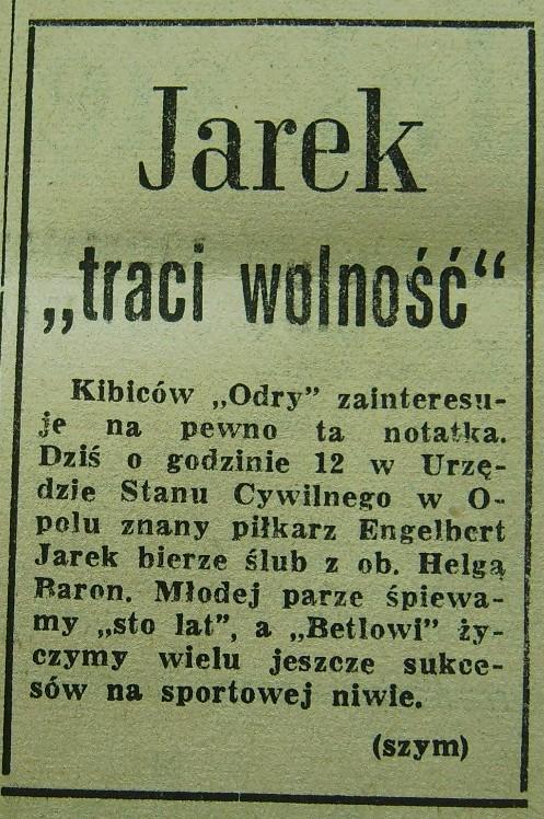 Ślub Engelberta Jarka