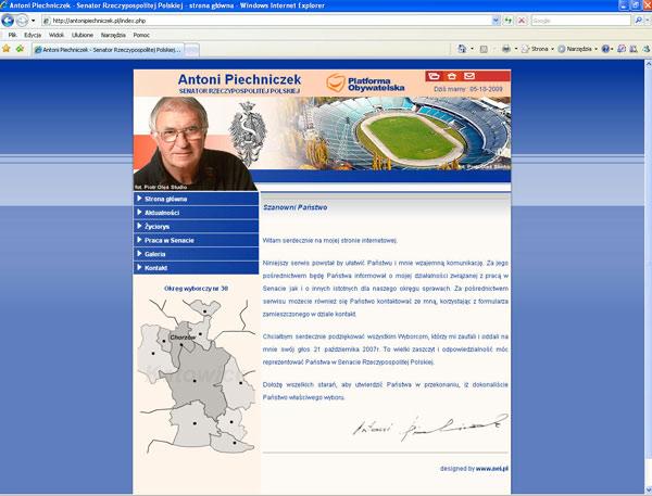 Wywiad z Antonim Piechniczkiem dla naszego serwisu znalazł się również na stronie Senatora Piechniczka