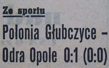 """W 1962 roku pierwsozligowa """"Odra"""" pokonała """"Polonię"""" Głubczyce 1:0"""