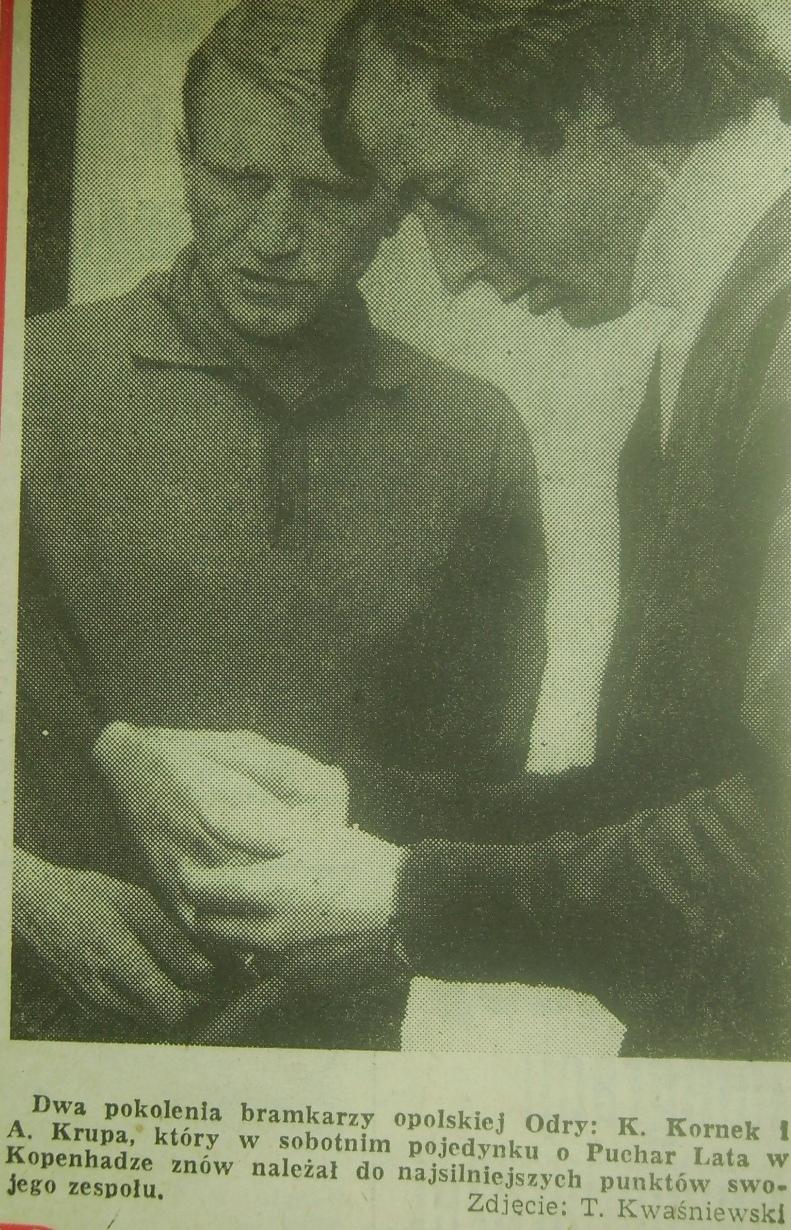 Powrót z Kopenhagi piłkarzy Odry (1972)
