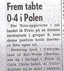 Duńska gazeta Valby Baldet pisała o wysokiej przegranej swoich rodaków w Polsce