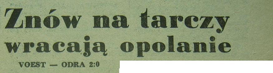 """""""Odra""""  przegrywa w  Pucharze Intertoto (1972)"""