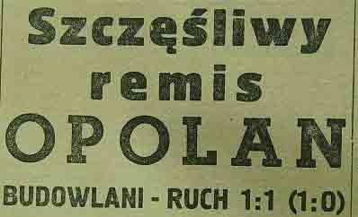 """Budowlani"" Opole - ""Ruch"" Chorzów (1958)"