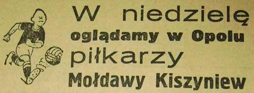 Trybuna Opolska zachęcała kibiców do przybycia na mecz