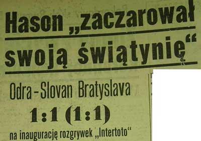 Debiut Odry Opole w Pucharze Intertoto