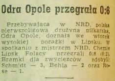 Chemie Lipsk - Odra Opole 6:0