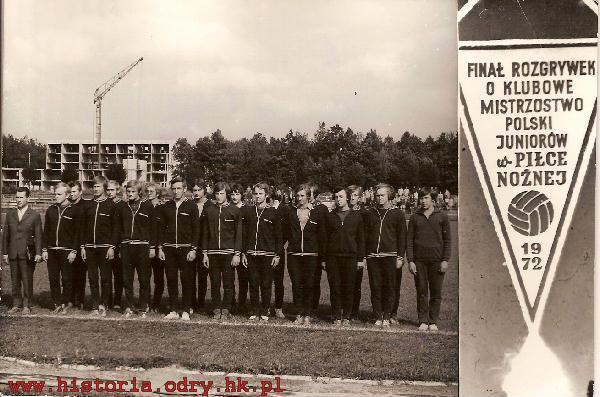Zespół Stali Kraśnik podczas finału rozgrywek MPJ 1972 r.