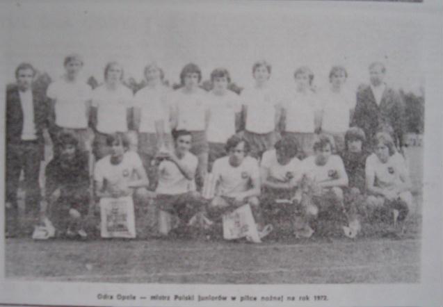Mistrzowie Polski juniorów 1972 - Odra Opole