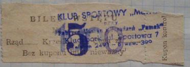 Bilet z meczu