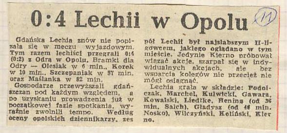 Odra - Lechia 4:0 1981/1982