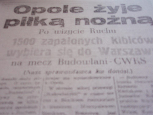 1500 kibiców Odry jedzie do Warszawy