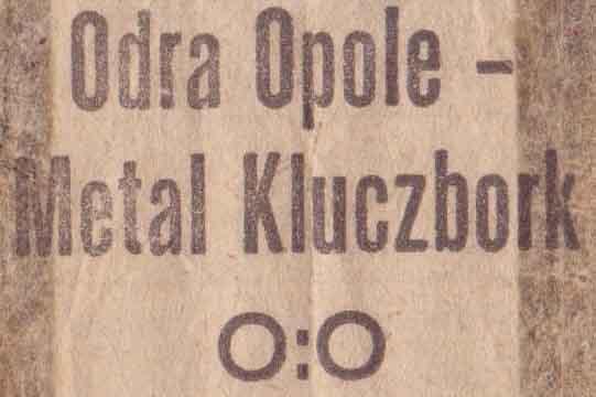 Odra Opole - Metal Kluczbork (0:0, juniorzy)