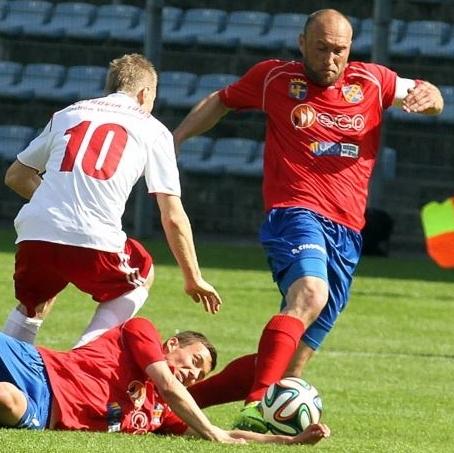 Odra Opole - Ostrovia 1909 Ostrów Wlkp, 2:0 (Sezon 2013/14; fot. M. Matkowski).