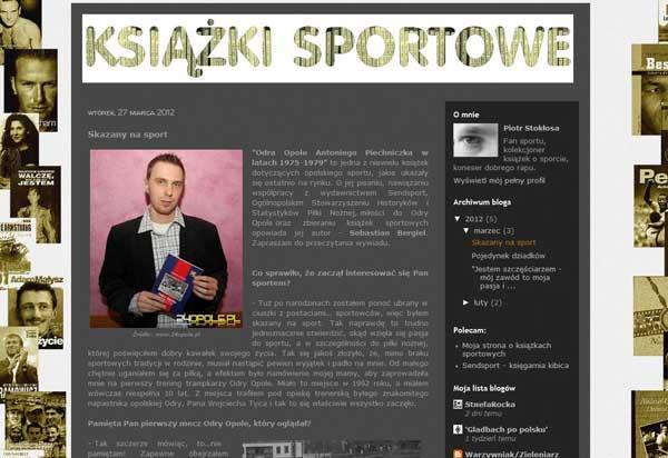 """Skazany na sport - wywiad na blogu """"Książki sportowe"""""""