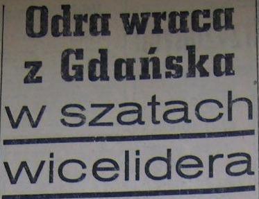 """""""Lechia"""" - """"Odra"""" (Sezon '60; 1:3)"""