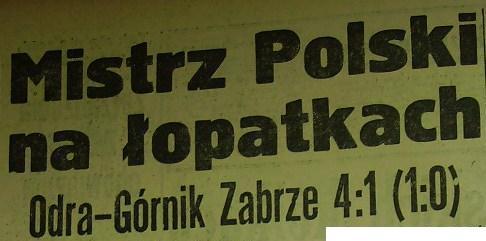 """Pogrom """"Górnika"""" w Opolu (4:1, Sezon 1960)"""