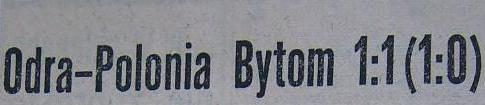 """Spotkanie """"Odra"""" Opole - """"Polonia"""" Bytom (1:1, Sezon 1960)"""