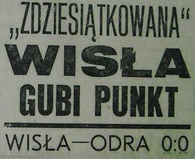 Wisła - Odra 0:0 (1976/1977).