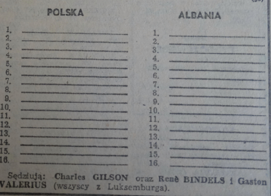 Diagram w trybunie Opolskiej wydany na mecz Polska-Albania