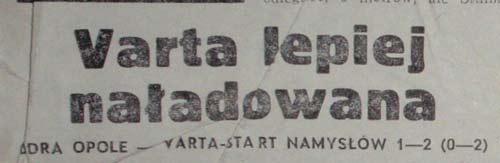 Odra-Vart Namys��w 1:2 (1994(