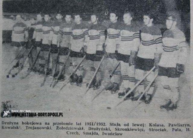 Stanisław Smajda w drużynie hokeja na lodzie Budowlani Opole