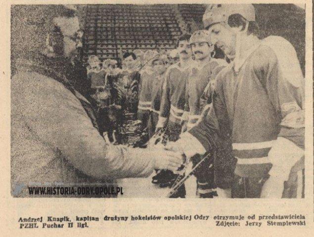 Koniec sekcji hokeja na lodzie w Odrze Opole [1986]