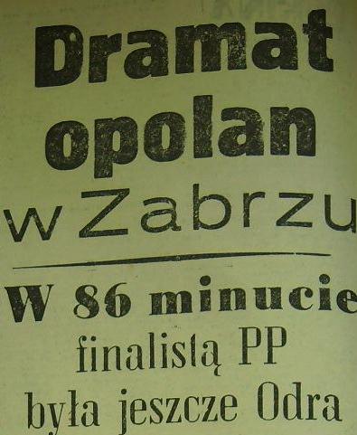 Ze spotkania 1/4 PP 1962 (Górnik - Odra 2:1).