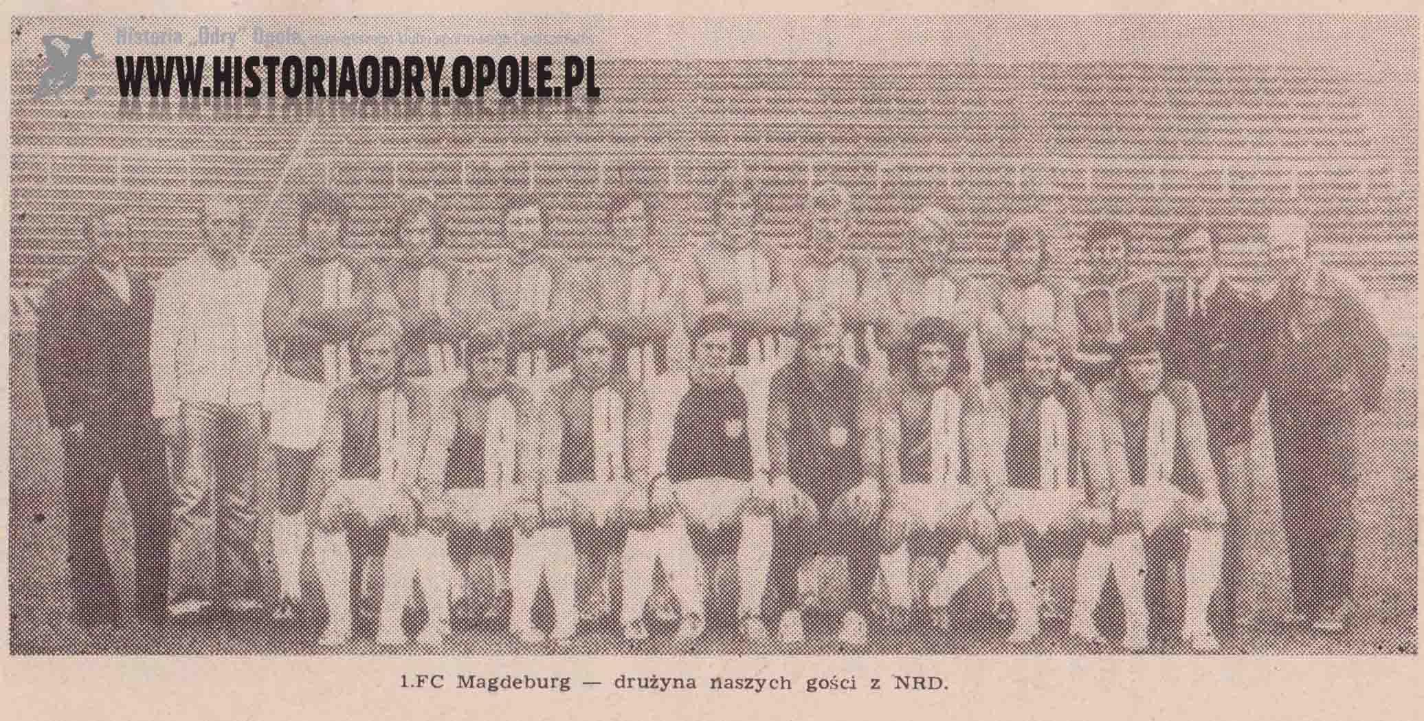 Pierwszy skład 1. FC Magdeburg.