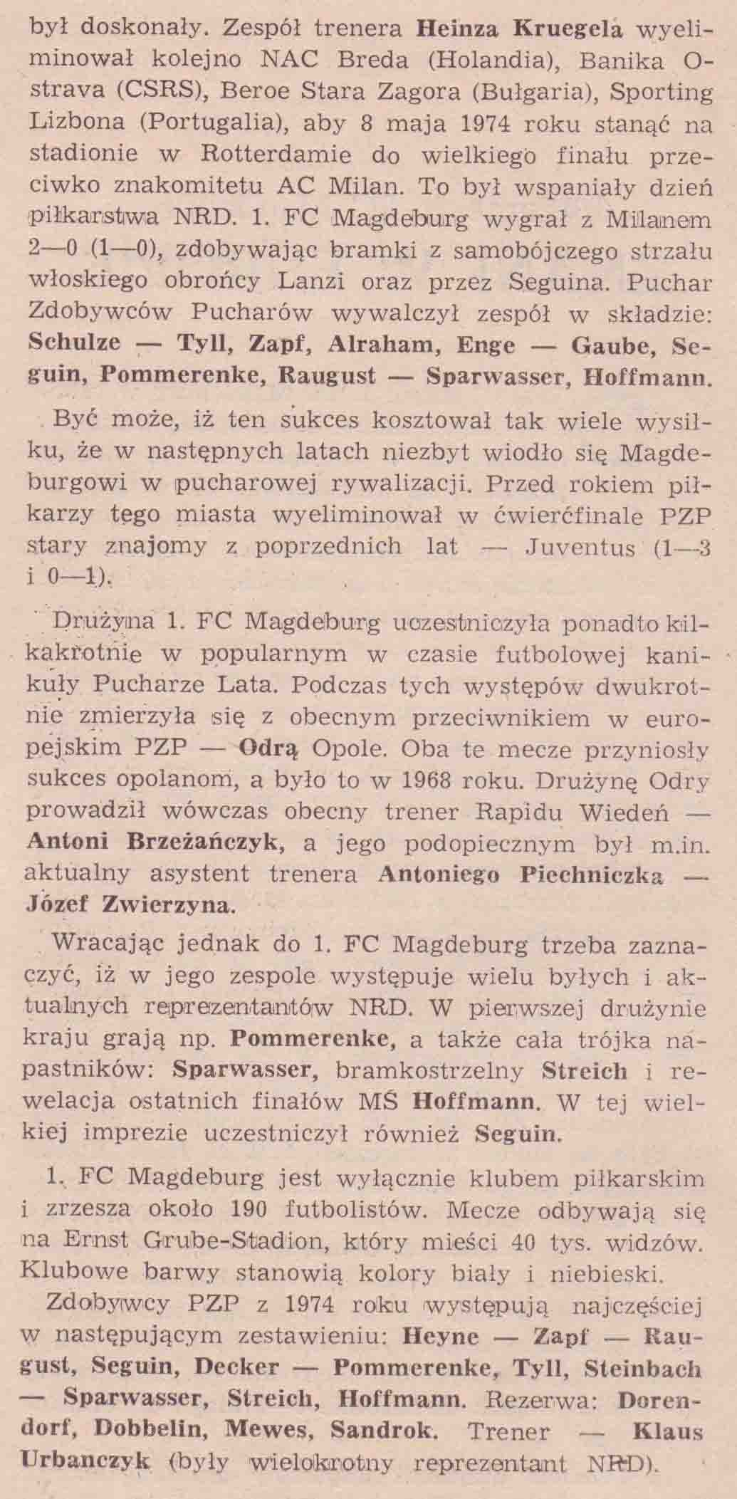 1, FC Magdeburg (broszurka 2).