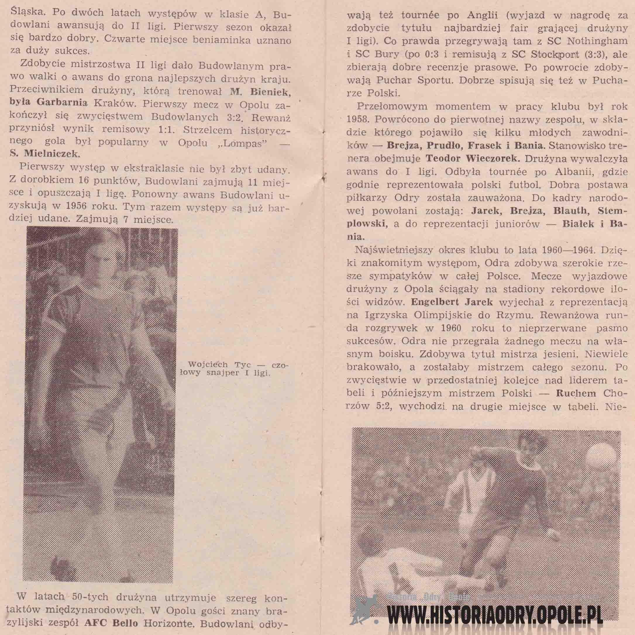 Odra Opole - 1. FC Magdeburg (broszurka 2).