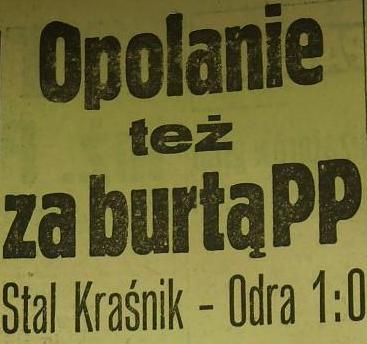 1/16 PP 1962/1963 (Stal - Odra 1:0).