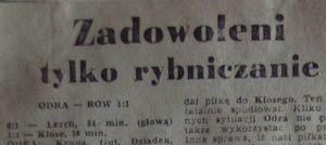 Remis ROW-u w Opolu zadowolił tylko rybniczan... (1974)