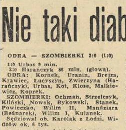 300 mecz Odry Opole w ekstraklasie z Szombierkami Bytom