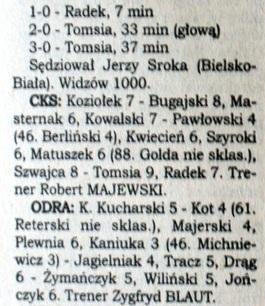 CKS - Odra 3:0 (1996/1997).