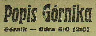 Górnik Zabrze - Odra Opole 6:0 (Sezon 1967/1968).