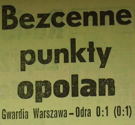 Ze spotkania Gwardia - Odra (Sezon 1962/1963, 0:1).