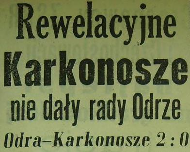 Ze spotkania Pucharowego (Odra - Karkonosze 2:0, 1962).