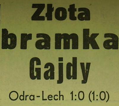 Ze spotkania Odra - Lech (1:0, Sezon 1962/1963).