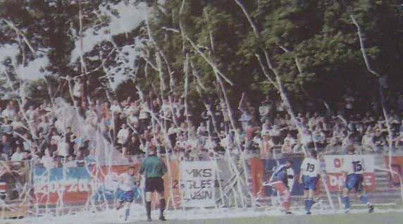 Ze spotkania Odra - Lech (2:1, Sezon 2000/2001).