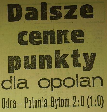 Ze spotkania Odra Opole - Polonia Bytom (Sezon 1962/63, 2:0).