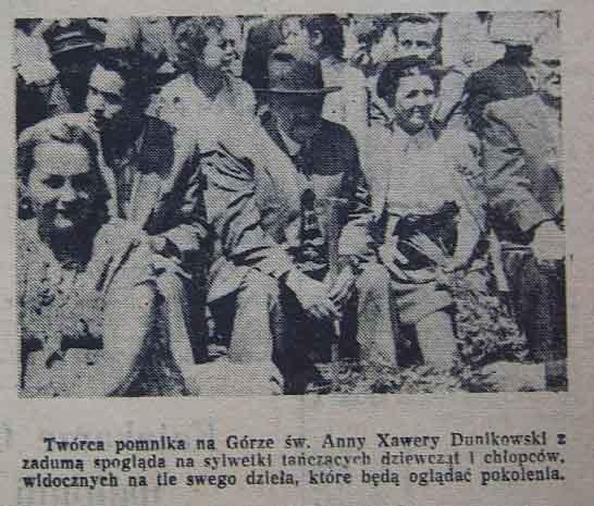 Xawery Dunikowski podczas uroczystości odsłonięcia Pomnika Czynu Zbrojnego (1955).