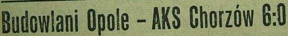 Ze spotkania Budowlani - AKS (1955, 6:0)