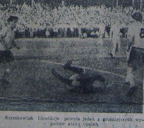 Budowlani Opole - CWKS Warszawa 2:5 (Sezon 1956).