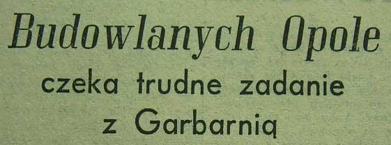 Budowlani - Garbarnia 4:1 (1956).