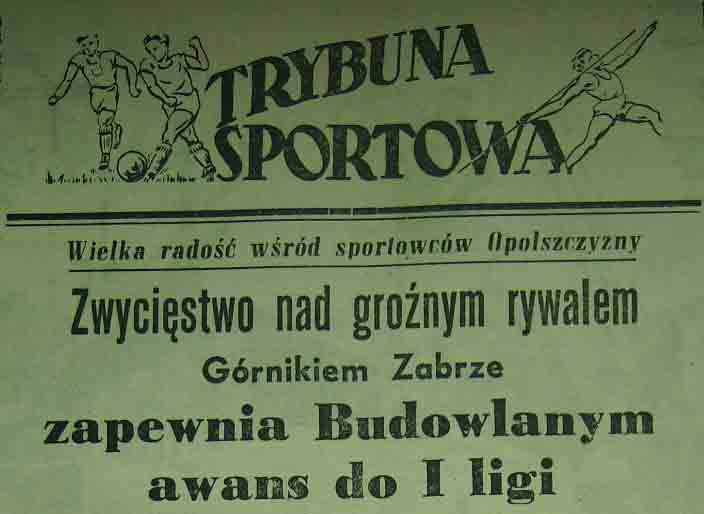Budowlani - Górnik 2:1 (1955).