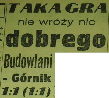 "''Budowlani"" - ""Górnik"" 1:1 (1958)"