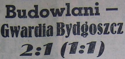 Budowlani Opole - Gwardia Bydgoszcz 2:1 (1956).